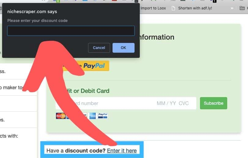 Niche-Scraper-Coupon-Input-Box-Location-On-The-Billing-Page