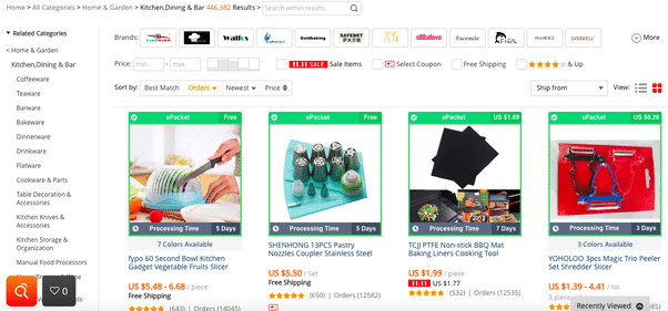 Aliexpress-Product-Search