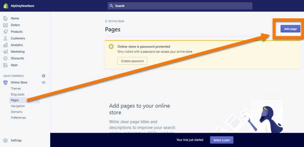Create-Pages-In-Shopify