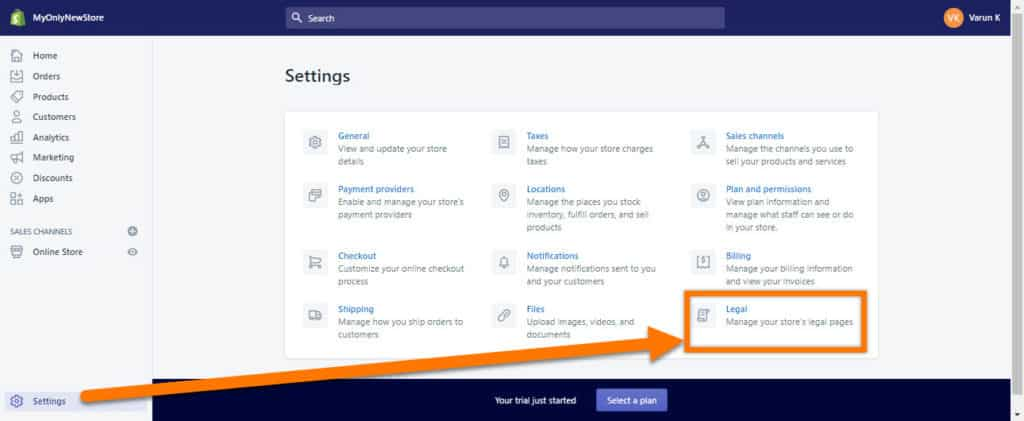 Shopify-Settings-Legal-Page-Templates-Location