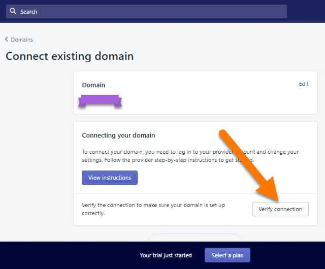 Shopify-Store-Connect-Existing-Domain-Step-3