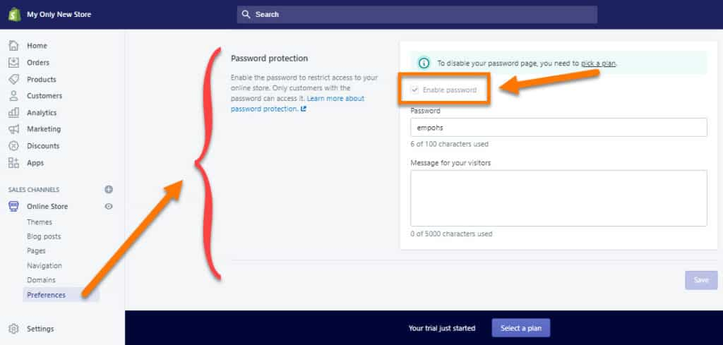Unlock-Shopify-Store-By-Disabling-Password-Protection